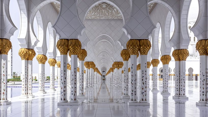 Sjeik Zayed-moskee - Abu Dhabi van Ivo de Bruijn