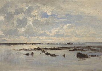 Carlos de Haes Sonnenaufgang Meereslandschaft, Antike Landschaft