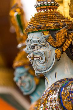 Wachen Großer Palast Bangkok, Wat Phra Kaew von Jeroen Langeveld, MrLangeveldPhoto