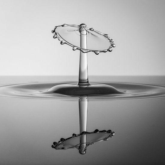Zwart/Wit Splash Art met reflectie van Marc Piersma