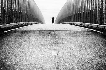Eenzame fietser sur HANS VAN DAM
