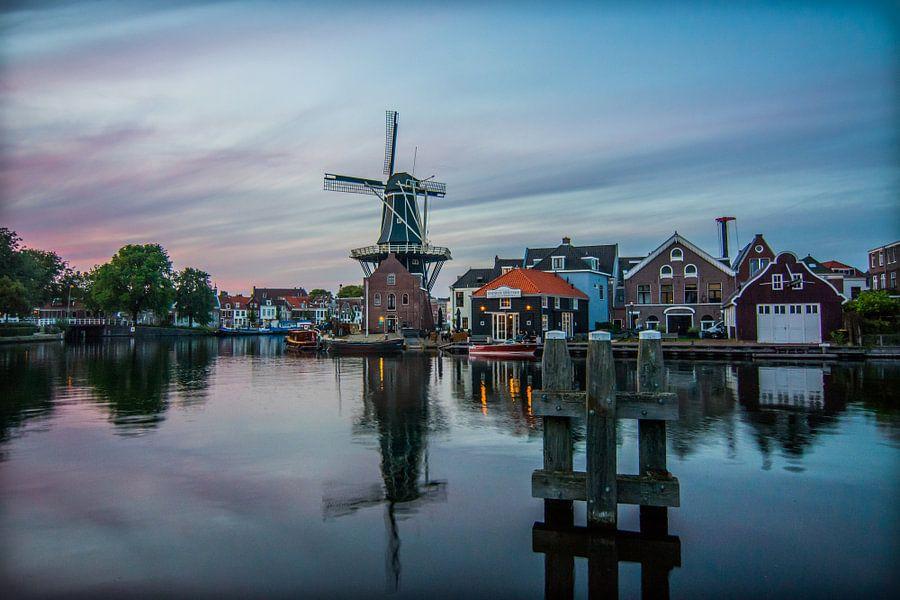Zonsondergang in Haarlem 01 van Arjen Schippers