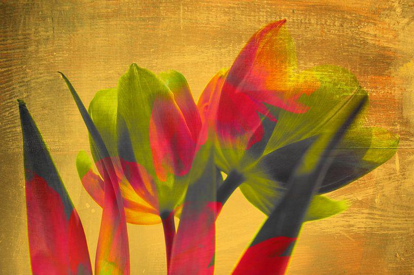 Tulipes art déco van Martine Affre Eisenlohr