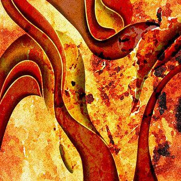Abstraktes Gemälde Brennende Hölle