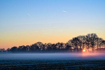 Sonnenuntergang im Nebel von Janine Müller