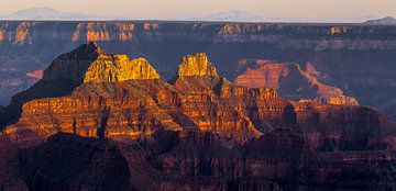 Grand Canyon sunset van Peter Leenen