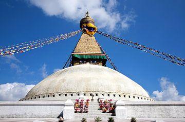 Stupa Bodhnath in Kathmandu Nepal von Jan van Reij