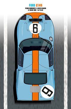 Rodriguez-Bianchi GT40 Le Mans 1968 van Theodor Decker