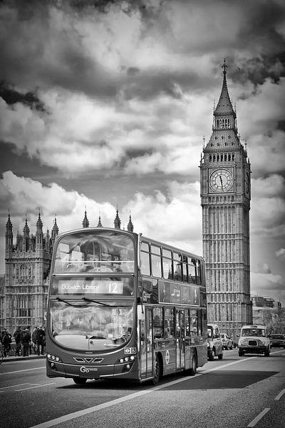 LONDON Houses of Parliament und Verkehr von Melanie Viola