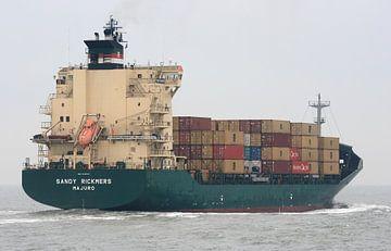 Containerschip op Westerschelde van MSP Canvas
