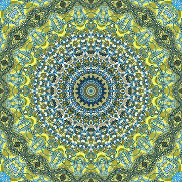 Mandala Immergrün von Marion Tenbergen