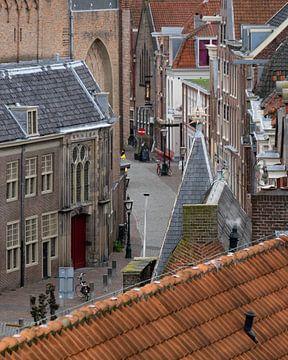 Leiden Centrum stadsgezicht van Jeannette Kliebisch