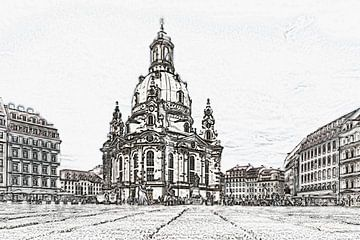 Kerk van Onze-Lieve-Vrouw Dresden van Gunter Kirsch