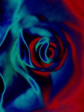 Flower power, roos van Kirsti's Kunst