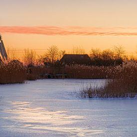 Nordmühle bei Sonnenaufgang von Marga Vroom