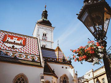 Zagreb - St. Mark's kerk van Alexander Voss