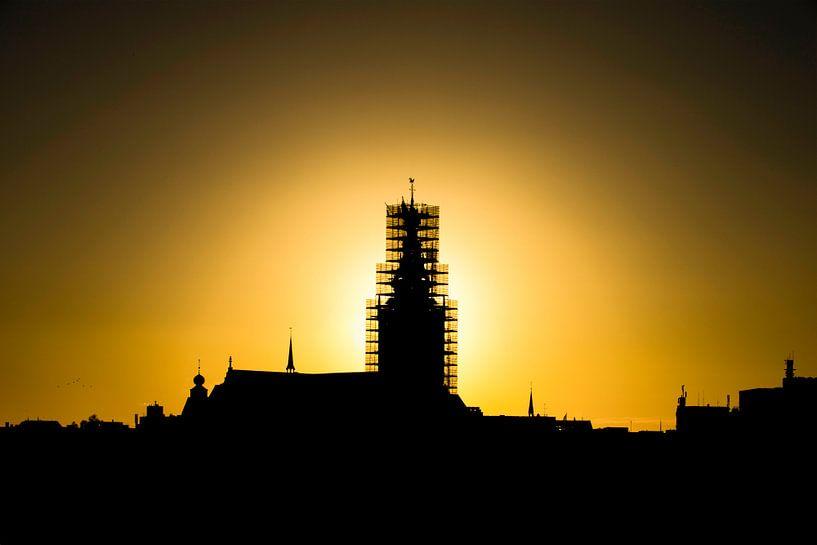 Stevenskerk in de steigers van Maerten Prins