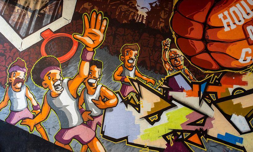 Basketball als Straßenkunst von Antwan Janssen