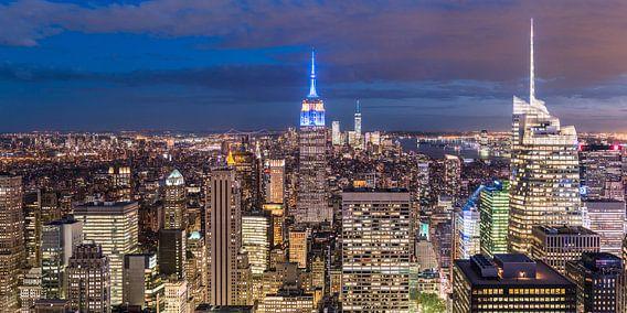 Panorama New York City (Manhattan) van Frenk Volt
