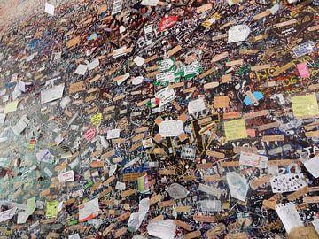 muur bij het balkon van Julia in Verona van Joke te Grotenhuis