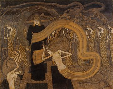 Fatalisme, Jan Toorop, 1893 van Atelier Liesjes