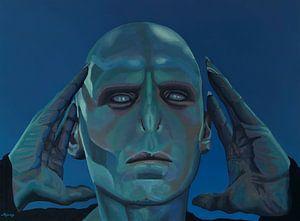 Ralph Fiennes als Heer Voldemort Schilderij