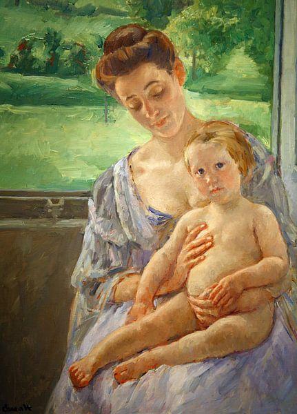Mary Cassatt. Mother and Child van 1000 Schilderijen