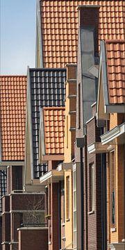 Dakpannen perspectief in Vinex wijk van Peter de Ruig