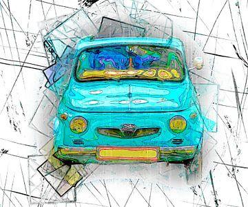 Turquois car van Leopold Brix