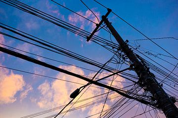 Electriciteit silhouet van Merijn Geurts