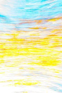 Blauw Geel Wit van Jan Peter Jansen