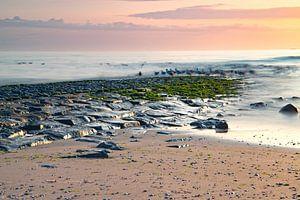 Zonsondergang Callantsoog aan zee van
