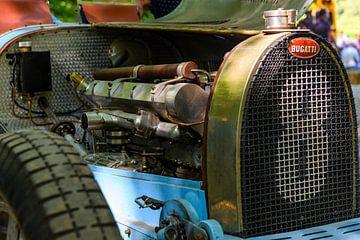 Bugatti Type 35 motor van Sjoerd van der Wal