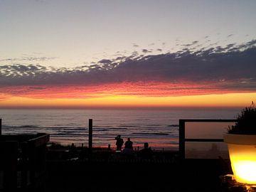 Zonsondergang  op het strand van Chantal Koper