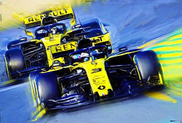 Teammates Ricciardo #3 & Hülkenberg #27 van Jean-Louis Glineur alias DeVerviers