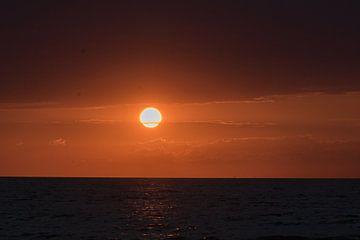 zonsondergang in Zeeland  von Maaike Krimpenfort