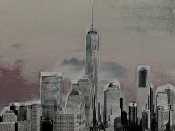 4. Paysage urbain, Manhattan, NY. sur Alies werk