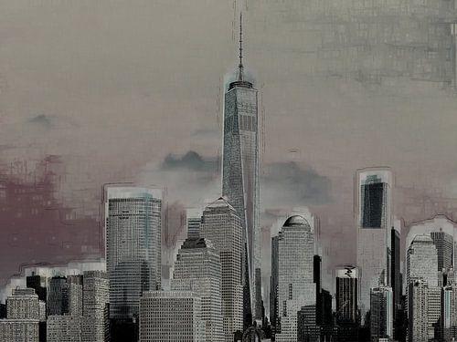 4. Stedelijk landschap, Manhattan, NY. van Alies werk