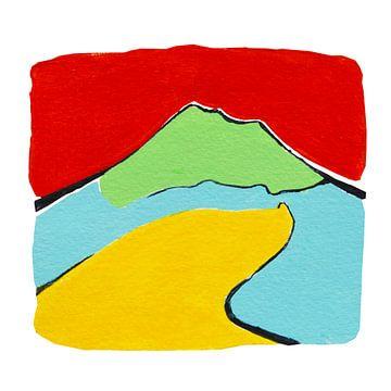 Vesuvius, Napels Italie, acryl van Studio Heyki