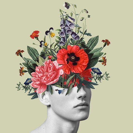 Zelfportret met bloemen 5