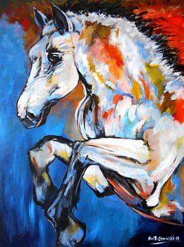Stallion Horse van Eberhard Schmidt-Dranske