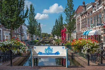 Plateelbankje in Gouda van Rinus Lasschuyt Fotografie