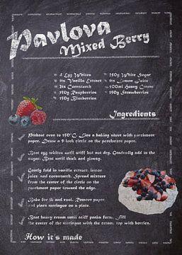 Recipe of Dessert - Pavlova van JayJay Artworks