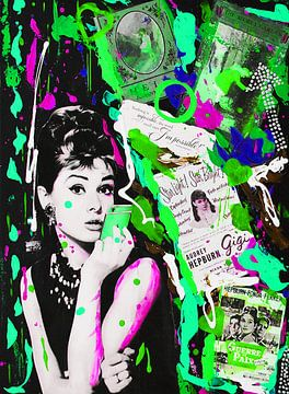 """Audrey Hepburn """"iPhone Grün"""" von Kathleen Artist Fine Art"""
