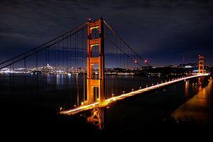 Golden Gate Bridge by night, United States