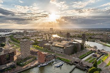 Zonsondergang uitzicht Euromast Rotterdam van Jeroen Kleiberg