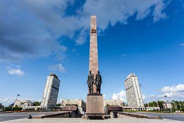 Monument Geroicheskim Zashchitnikam Leningrada in St Petersburg, Rusland van WorldWidePhotoWeb