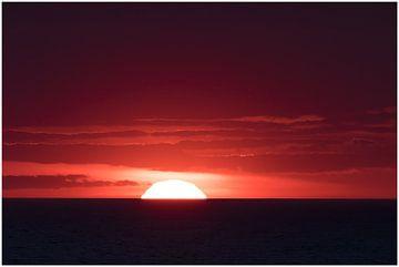 De rode zonsondergang