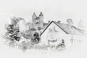 De Bertradaburg in Mürlenbach (Eifel / Duitsland)