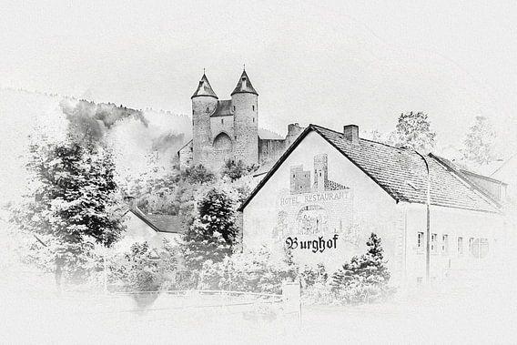 De Bertradaburg in Mürlenbach (Eifel / Duitsland) van Art by Jeronimo